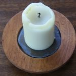 With slate insert, candle diameter is 2.5""