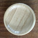 Oak dish, quarter sawn