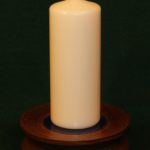 Candle base with candle