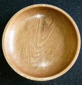 dark oak fruit bowl