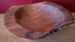 natural edged spalted pear bowl
