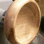 Beech bowl with spalting