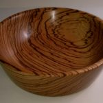 Bowl from Zebrano wood